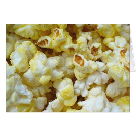 Popcorn-Karte 01 Grußkarte