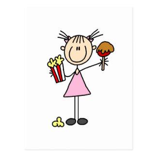 Popcorn-und Zuckerwatte-T-Shirts und Geschenke Postkarten