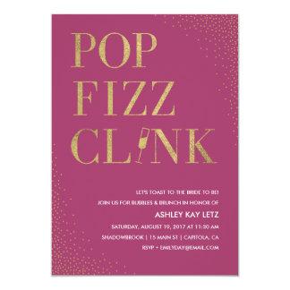 PopFizzclink-Brautpartybrunch-Einladung 12,7 X 17,8 Cm Einladungskarte