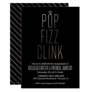 PopFizzclink-Verlobungs-Party in der Imitat-Folie Karte