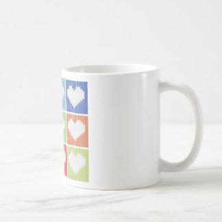 Popkunst-Herzverzierung Tasse
