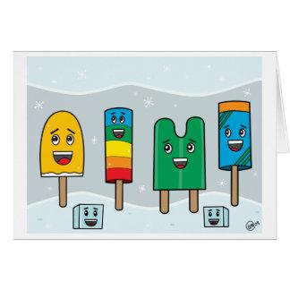 Popsicle-Parade - Gruß-Karte Karte