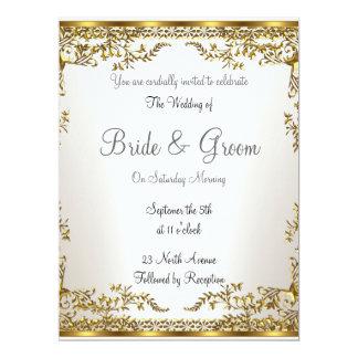 Populäre elegante   Hochzeits-Einladung 16,5 X 22,2 Cm Einladungskarte