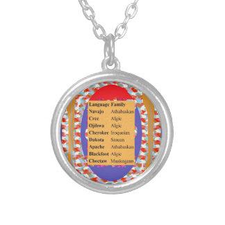 Populäre Ureinwohner-Sprachliste: Seien Sie STOLZ Halskette Mit Rundem Anhänger