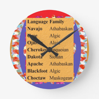 Populäre Ureinwohner-Sprachliste: Seien Sie STOLZ Runde Wanduhr
