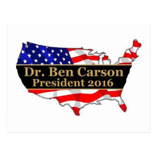 Populärer politischer Entwurf Dr. Ben Carson 2016 Postkarte