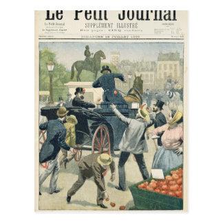 Populärer Protest gegen Joseph Reinach Postkarten