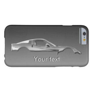 Populäres Sport-Auto fertigen Metalltext-Schablone Barely There iPhone 6 Hülle