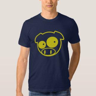 Porc jaune de mascotte tshirts
