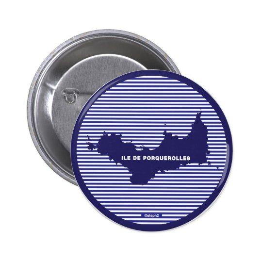Porquerolles-persönlicher Freifahrausweis mit Runder Button 5,7 Cm
