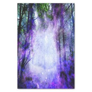Portail magique dans la forêt papier mousseline