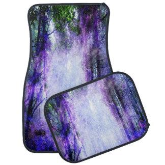 Portail magique dans la forêt tapis de voiture