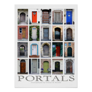 Portaltür-Fotografieplakat Poster