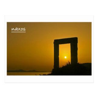Portara, Tempel von Apollo- - Naxospostkarte Postkarte