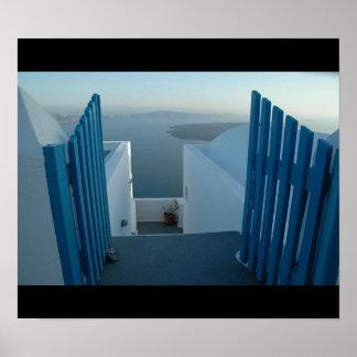Porte à Santorini Posters