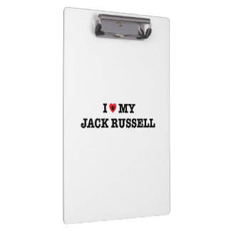 Porte-bloc I coeur mon porte - bloc de Jack Russell