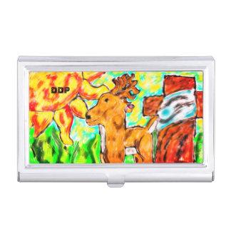 Porte-cartes De Visite Cerfs communs par art croisé
