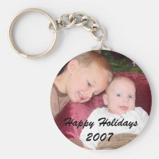 Porte - clé adorable de photo porte-clé rond
