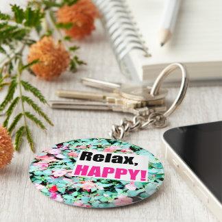 Porte - clé avec la fleur porte-clé rond