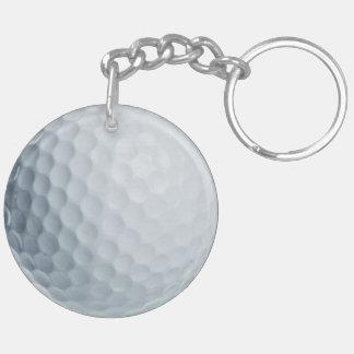 Porte - clé d acrylique de boule de golf