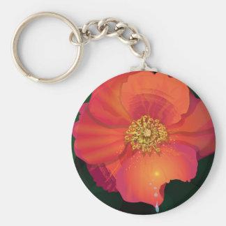porte - clé de fleur de passion porte-clé rond