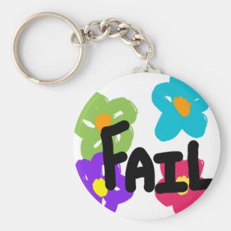 Porte - clé de fleur d'échouer porte-clé rond