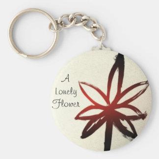Porte - clé de fleur porte-clé rond