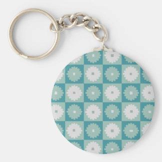 Porte - clé géométrique moderne de fleurs de la porte-clé rond