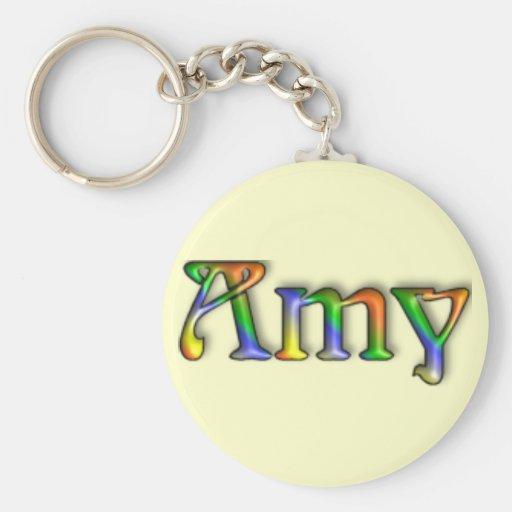 Porte - clé hippie de nom de cannelure de KRW - Porte-clé Rond