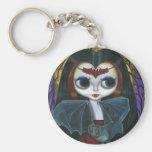 Porte - clé mignon de poupée de vampire porte-clé rond