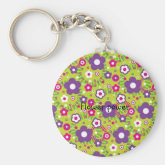 Porte - clé moderne de fleurs porte-clé rond