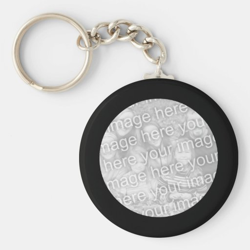 Porte - clé noir de cadre porte-clé rond