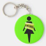 Porte-clés drôle d'image de l'attitude des femmes