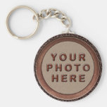Porte - clés personnalisés encadrés de photo pour porte-clé rond