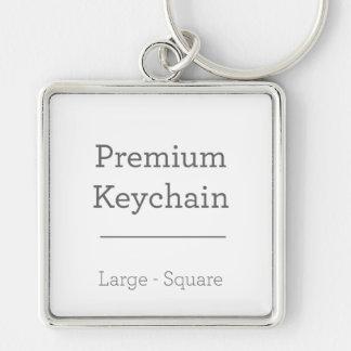 Porte-clés Porte - clé carré de coutume