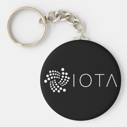 Porte-clés Porte - clé de base d'iota (noir)