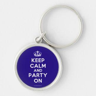 Porte - clés porte-clé rond argenté
