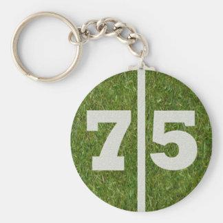 Porte-clés soixante-quinzième Cadeau de porte - clé