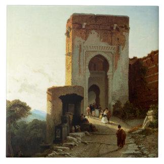 Porte de Justice, Alhambra, Granada (Öl auf Fliese