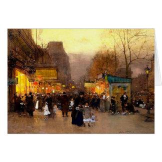 Porte St Martin zur Weihnachtszeit in Paris Karte