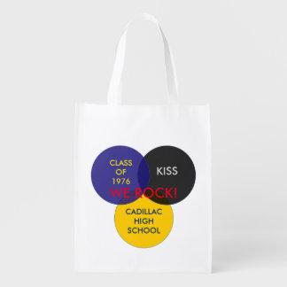 Portez vos articles préférés dans un sac de classe sacs d'épicerie réutilisables