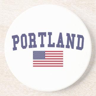 Portland ICH US-Flagge Getränkeuntersetzer