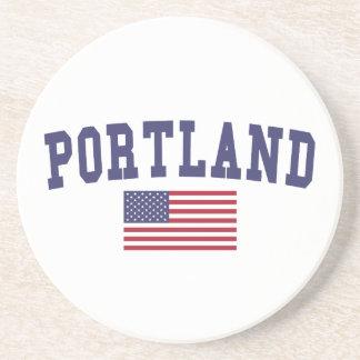 Portland ODER US-Flagge Untersetzer