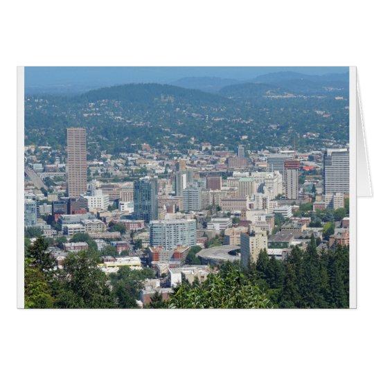 Portland-Skyline Grußkarte