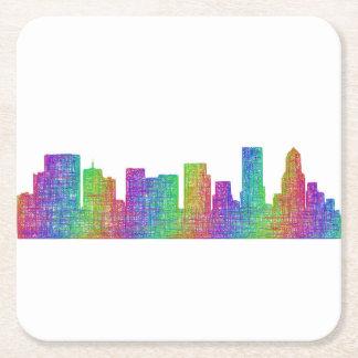 Portland-Skyline Rechteckiger Pappuntersetzer