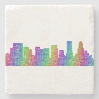 Portland-Skyline Steinuntersetzer