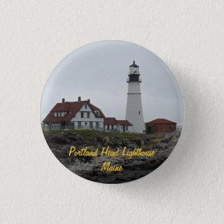 Portlandhauptleuchtturm, Maine Runder Button 2,5 Cm