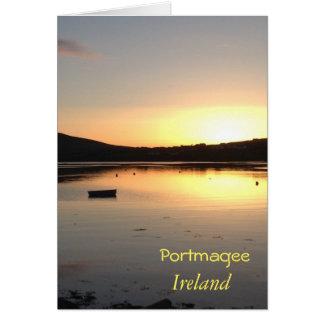 Portmagee Irland irische Gruß-Karte Karte