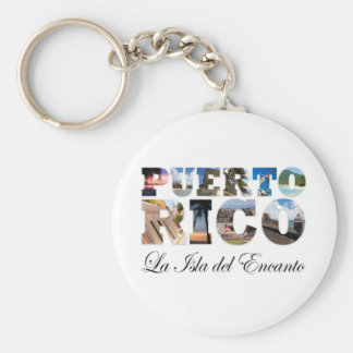 Porto Rico La Isla Del Encanto Montage Porte-clé Rond