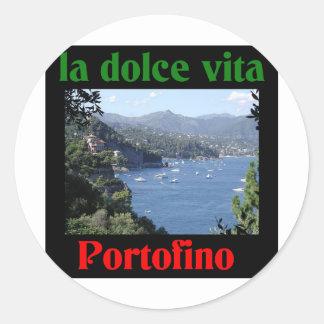 Portofino Italien Runder Aufkleber
